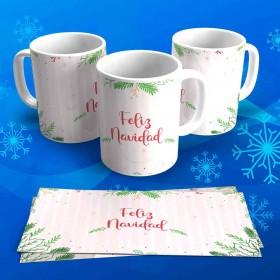 """Tazas Navideñas Personalizadas """"Feliz Navidad"""""""